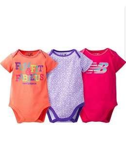 🚚 *9M* BN New Balance Bodysuits For Baby Girl