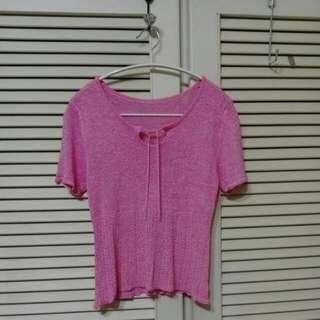 🚚 【售/換】⏰全面出清⏰桃紅色針織衫#可換物#半價衣服拍賣會