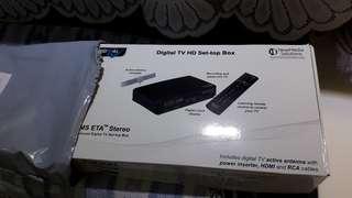 Digital tv set up box with antenna