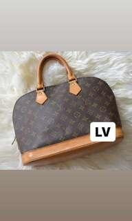 Authentic LV Alma MM Bag
