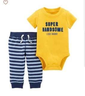 *9M* BN Carter's 2-Piece Bodysuit Pant Set  For Baby Boy
