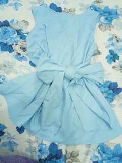 NYLA baby blue bow top