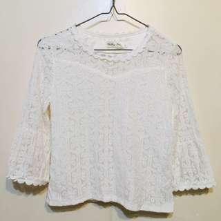 White Lace Top 白色花邊上衣