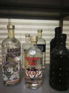 Absolut vodka limited edition 100%new 6bottles