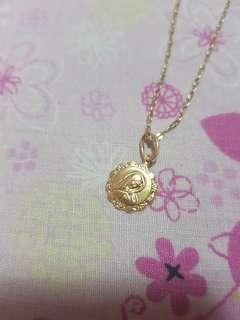 PAWNABLE 18k Gold Necklace (Mama Mary pendant) (yellow gold)