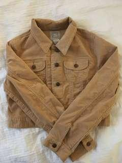 SMALL - corduroy beige cropped jacket