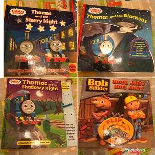 Thomas , Bob the builder books(4 books)