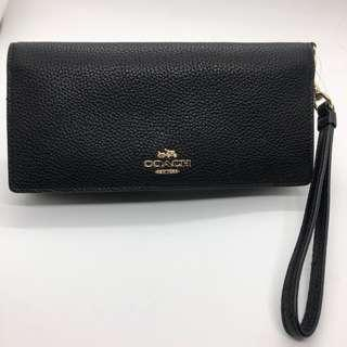 Pre-loved Coach Slim Leather Wallet