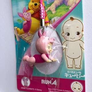 廸士尼Winnie the pooh小豬BB吊飾