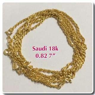 18k Bracelet Saudi gold