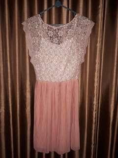 Preloved Pink Lace dress