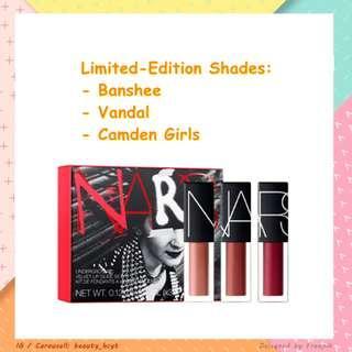 [現貨] Limited Edition限量 NARS Underground Velvet Lip Glide Coffret Set 聖誕禮物 (3.4ml x3)