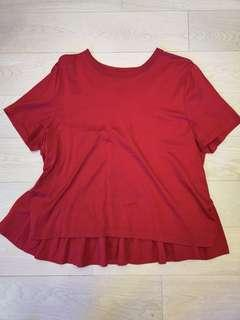Valentino silk cotton red top