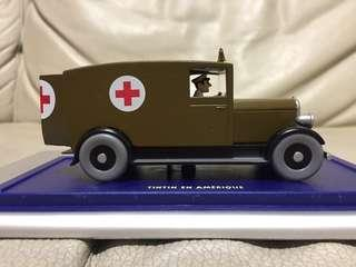 ATLAS 1/43 L'ambulance de Chicago. Tintin en Amérique. voiture tintin