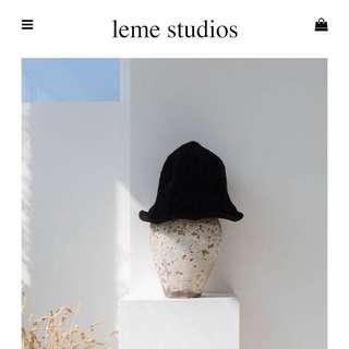 🚚 Leme studios 黑色針織帽