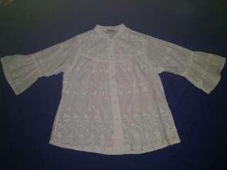 #paydaymaret Baju Atasan Putih Wanita (Putih Gading)