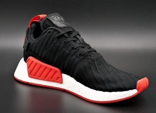 separation shoes 7e669 05f88 Adidas Boost NMD R2 PK Black Red, Men's Fashion, Footwear ...