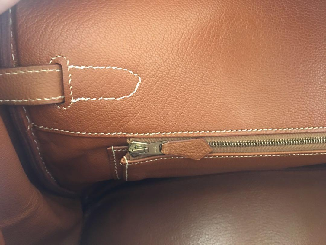 AUTHENTIC Hermes Birkin 35 Gold/brown on Gold hardware Togo leather