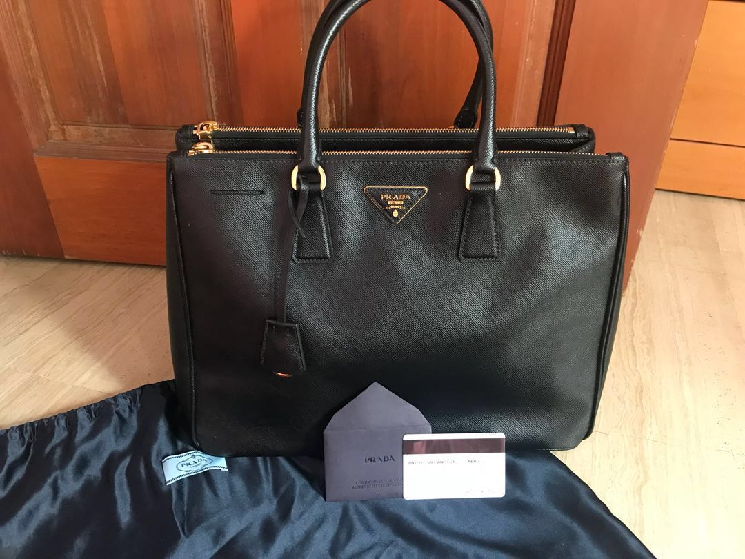 90dcaab5d9cb ... top quality authentic prada saffiano lux bn1786 nero luxury bags  wallets handbags on carousell dbb97 f6d93