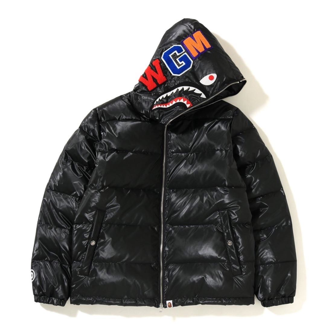 2c6878f3688f BAPE GLOSSY SHARK DOWN JACKET