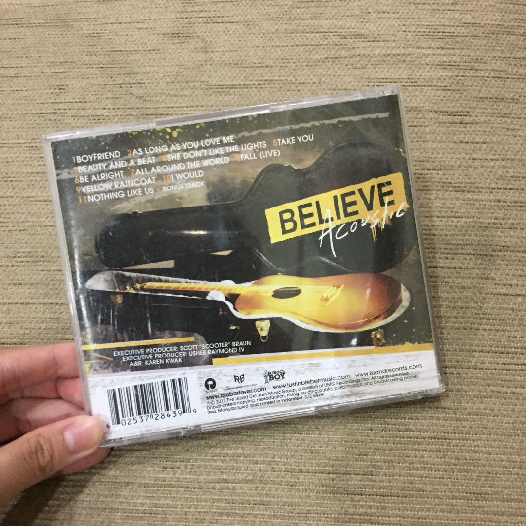 Believe Acoustic Album Justin Bieber
