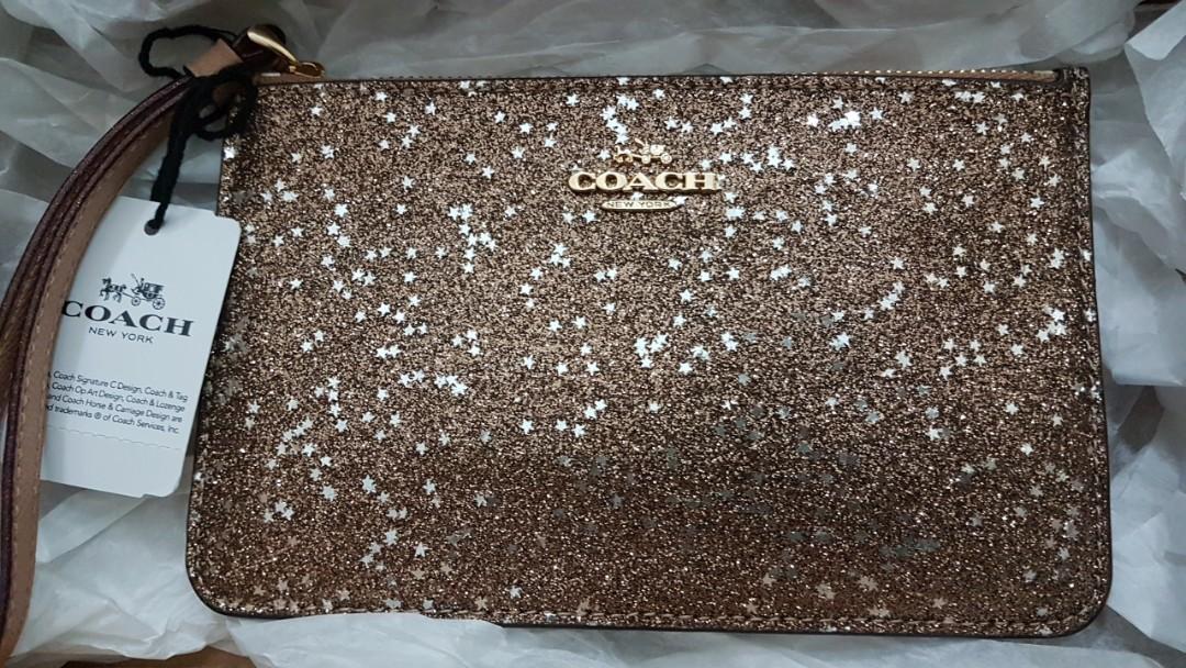 7e6083edea27 Brand New Authentic Coach Wristlet - Glitter Collection Christmas ...
