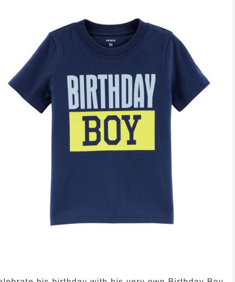 Brand New Carters T Shirt 2T Babies Kids Boys Apparel 1 To 3