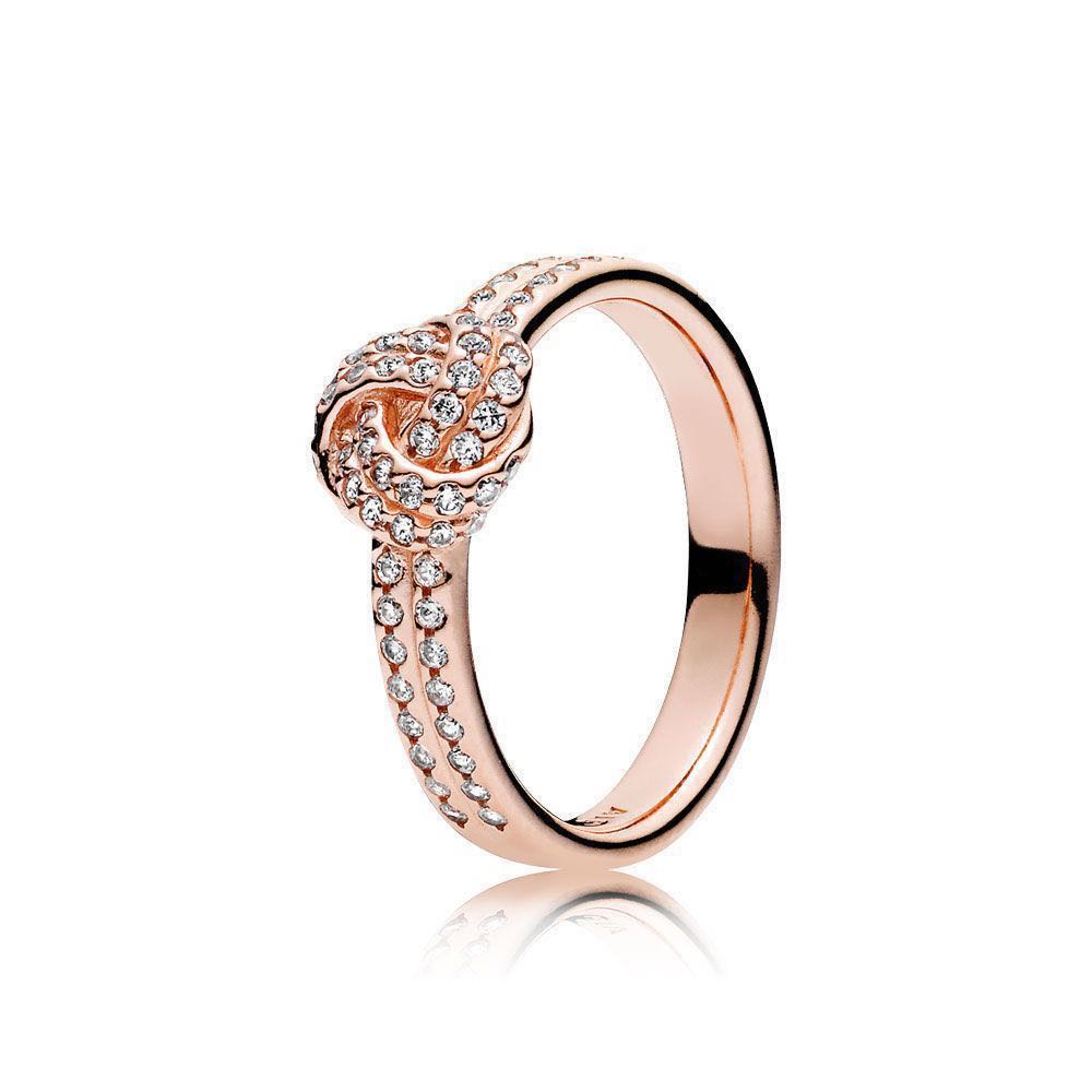 22c364c25 Brand New Pandora Rose Gold Knotted ring in size 54, Women's Fashion ...
