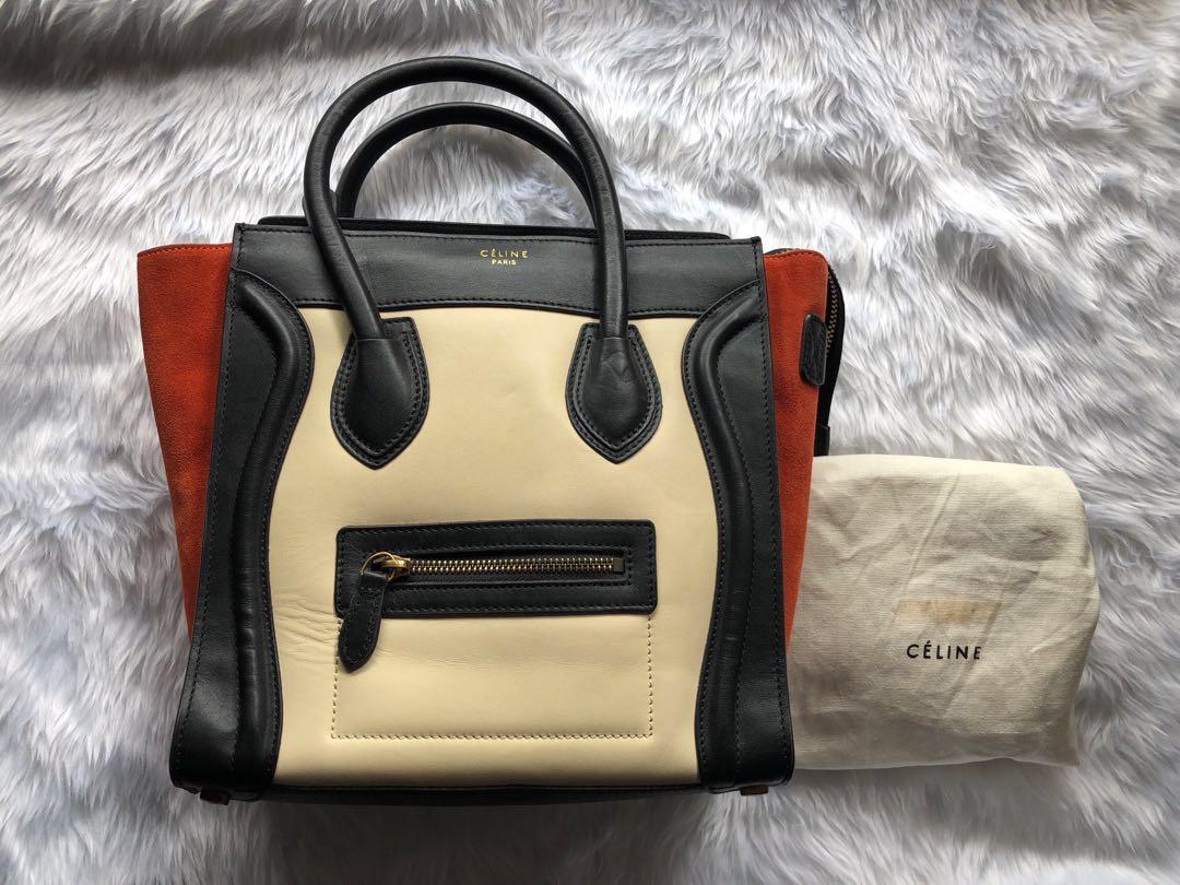 3ed7681e4b Celine Tricolor Luggage Rep