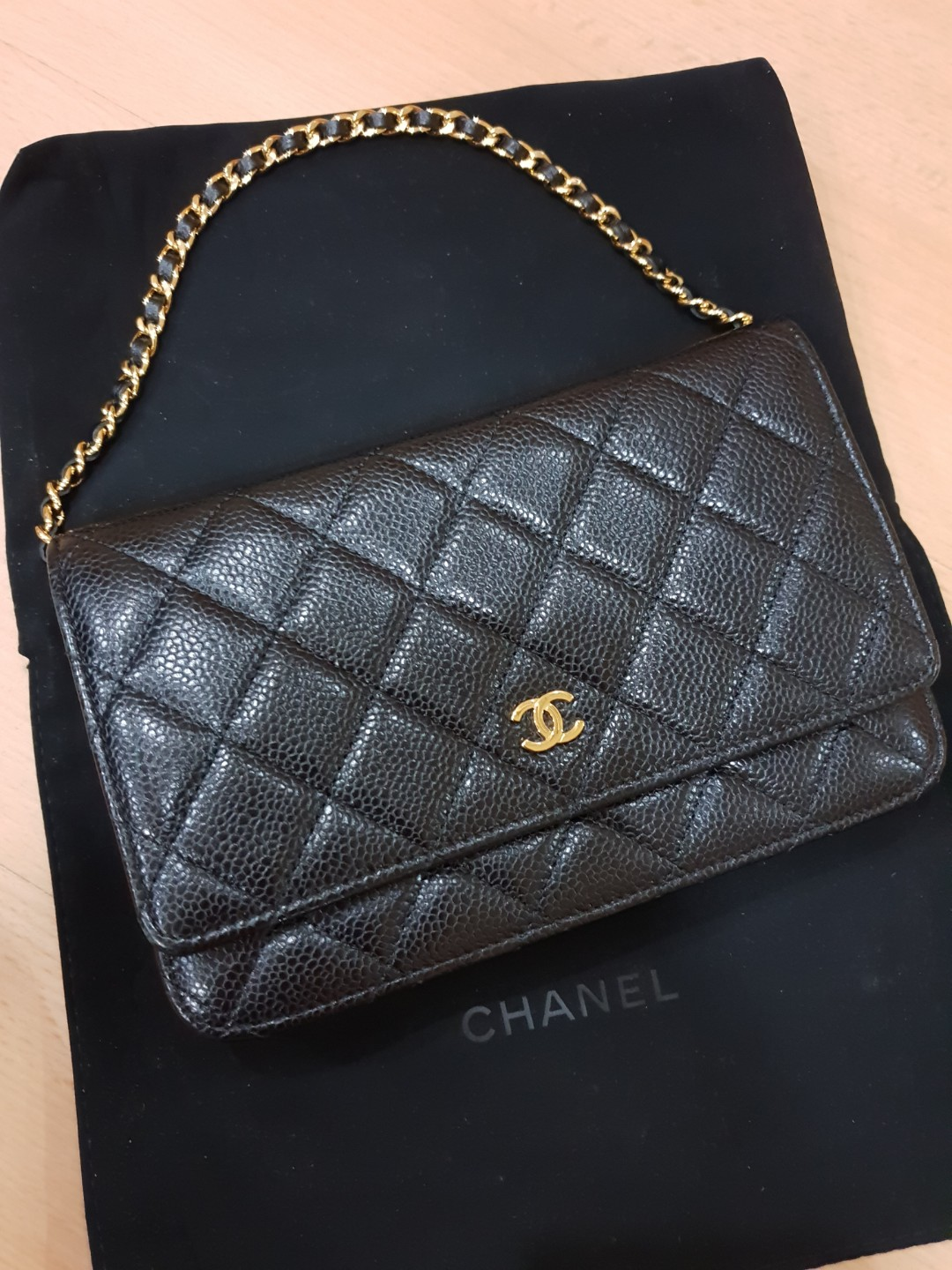 a6f4328e709c AUTHENTIC Chanel Classic WOC black, Luxury, Bags & Wallets, Sling ...