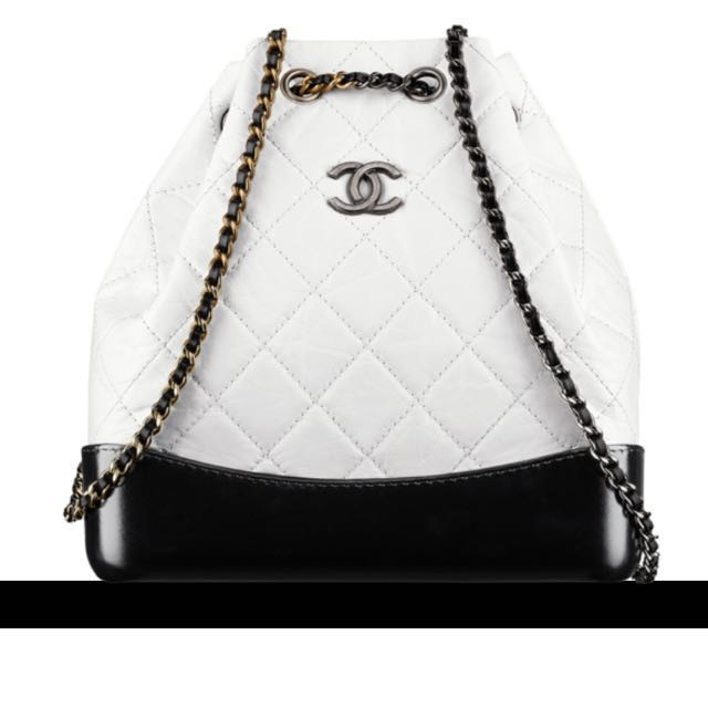 f130b9610798 Chanel White Black Mini Gabrielle Backpack, Luxury, Bags & Wallets ...