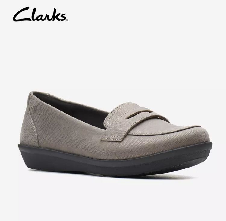 8a9b5054fa4e4 Clarks Ayla Form Pewter Metallic Womens Slip On shoes Cloudsteppers