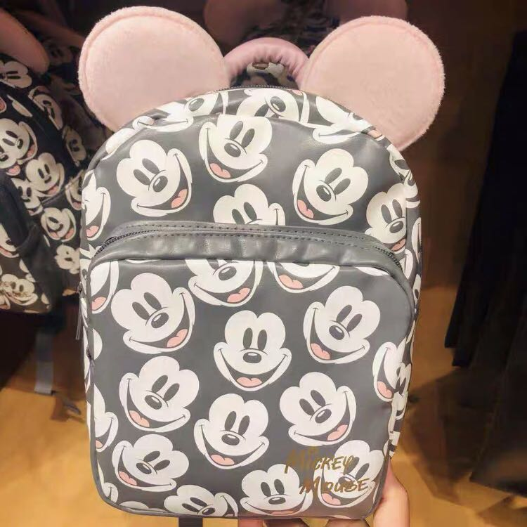 f2bfb5a7d1a Disneyland grey pink Mickey Mouse Backpack