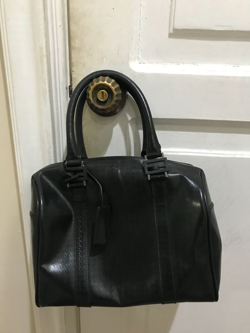 6be9b7b95 Fendi black doctor's bag, Women's Fashion, Bags & Wallets on Carousell