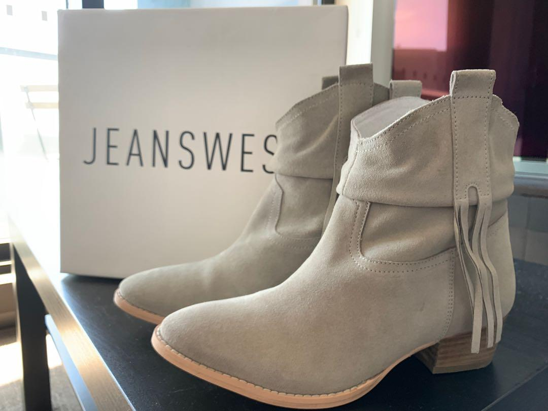 Grey suede boots