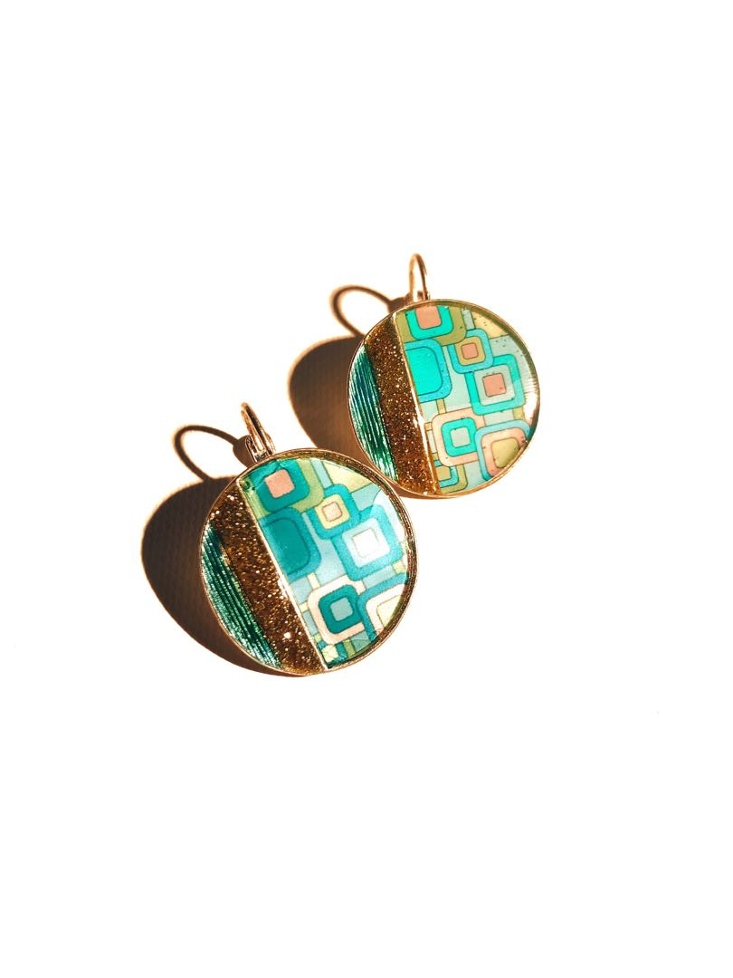 """b8c1dceb4 Groove"""" 60's Vintage Earring, Women's Fashion, Accessories, Others ..."""