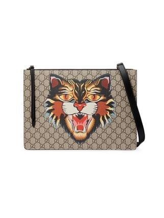 00bc88a3bdbb Gucci Angry Cat Print GG Supreme Messenger Bag, Luxury, Bags ...