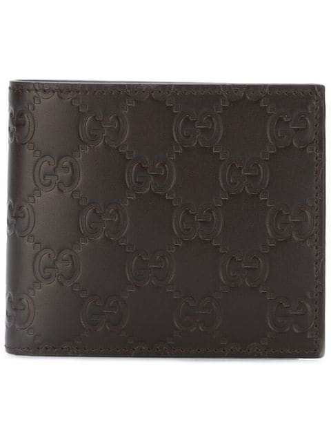 4ae05f14b11 Gucci Embossed Logo Billfold Wallet (Brown)