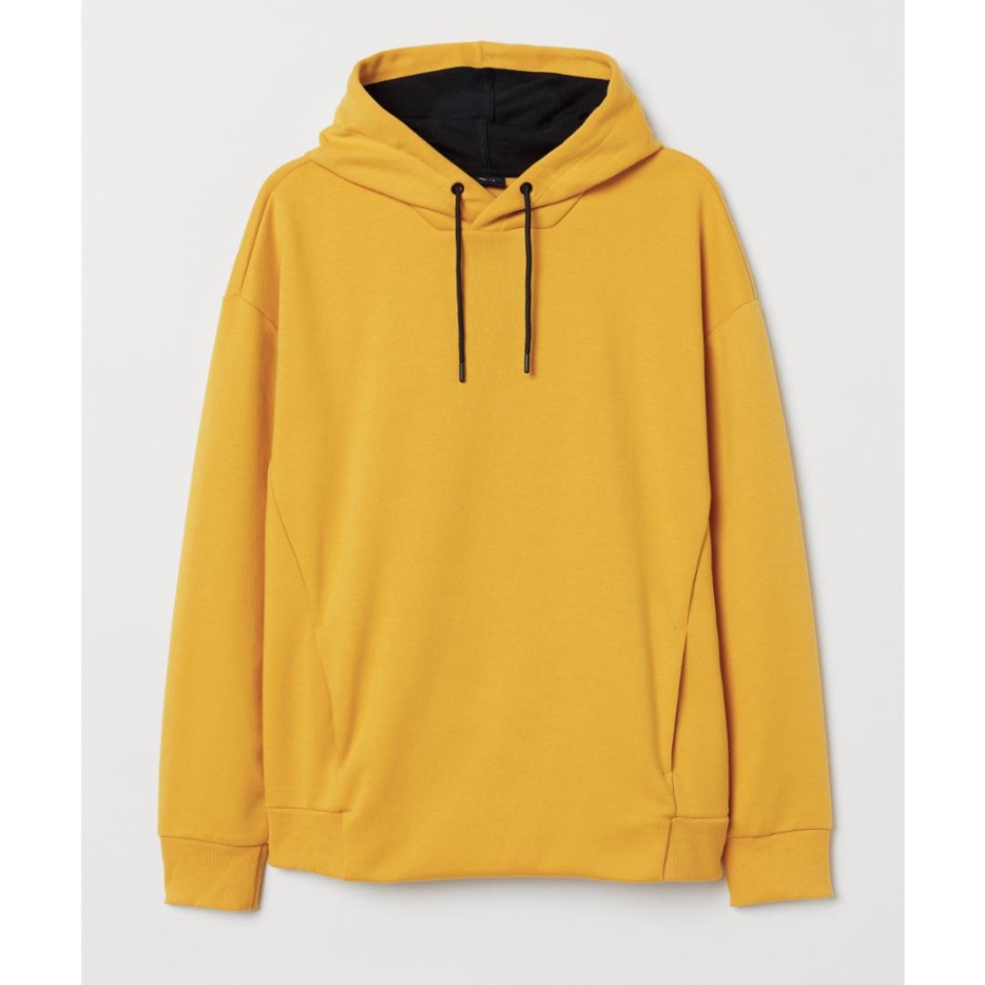 H M Mustard Yellow Hoodie fa3230d85