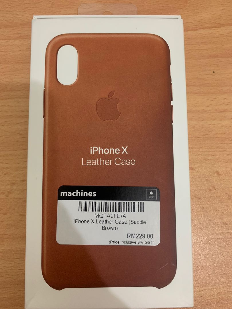 release date cb235 ec320 Iphone X leather case- original apple, saddle brown color