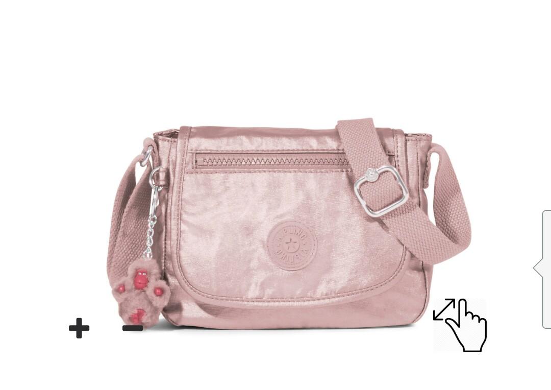 2a2c2da4743 Kipling Sabian RoseGold Crossbody Sling Bag, Women s Fashion, Bags    Wallets, Handbags on Carousell