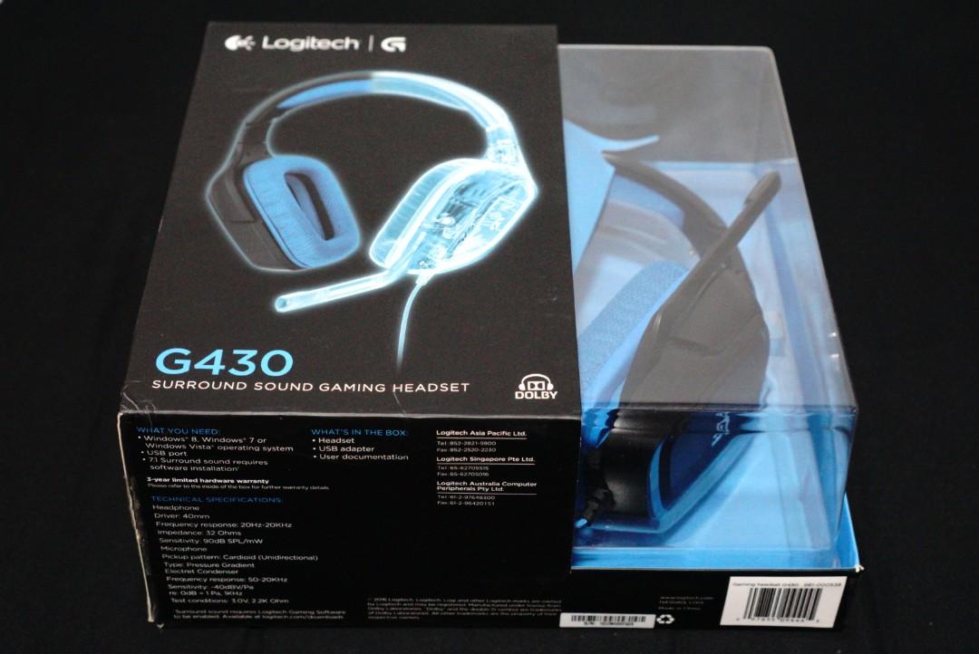 e764b81b27d Logitech G430 Gaming Hesdset, Electronics, Audio on Carousell