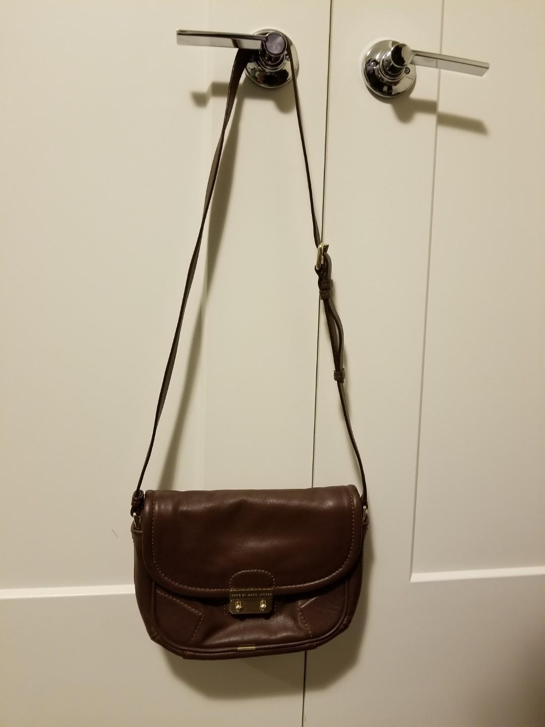 MARC BY MARC JACOBS Leather Crossbody Saddle Bag