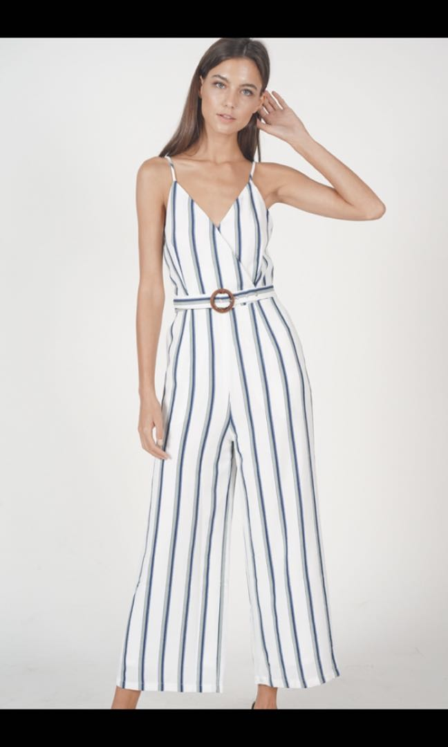 1ce83d3c921 MDS Moira Striped Jumpsuit in Mint