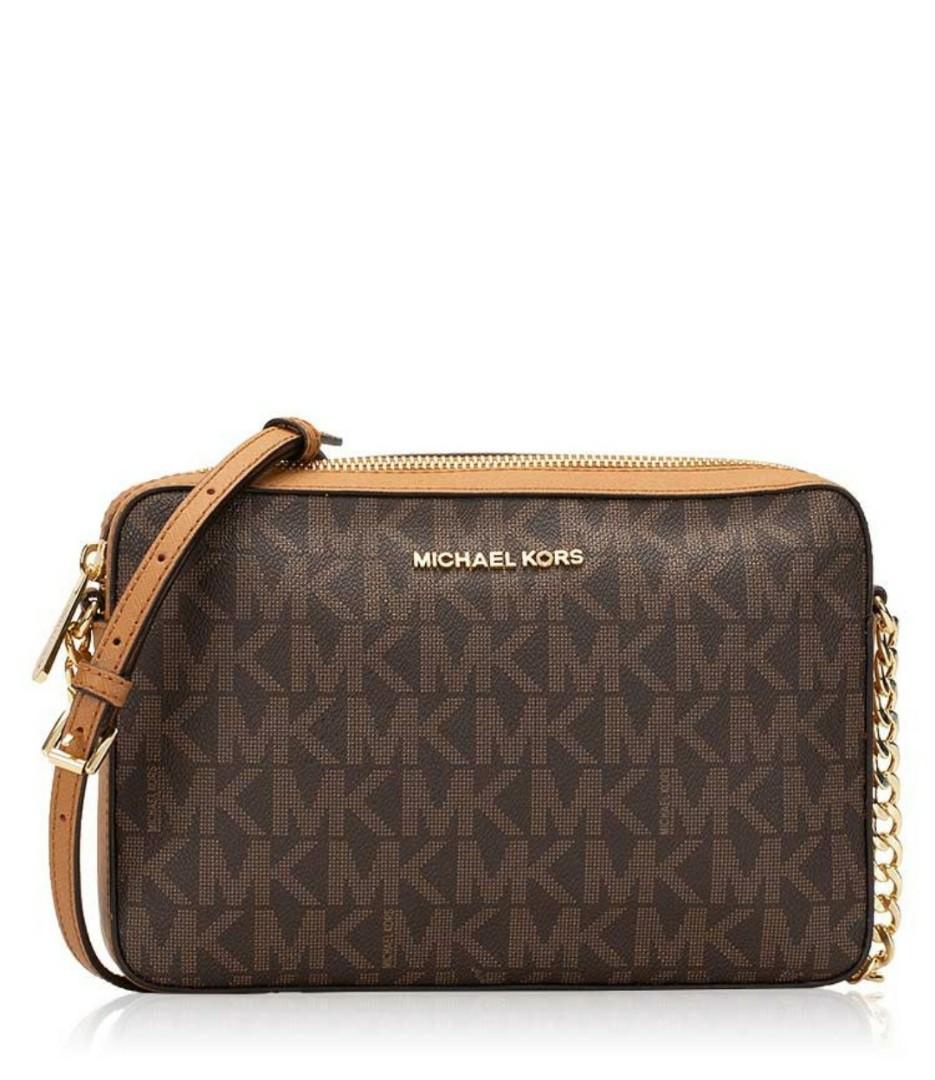 19d7db90518e ♥ Michael Kors Jet Set Item Signature Large Crossbody Bag ...