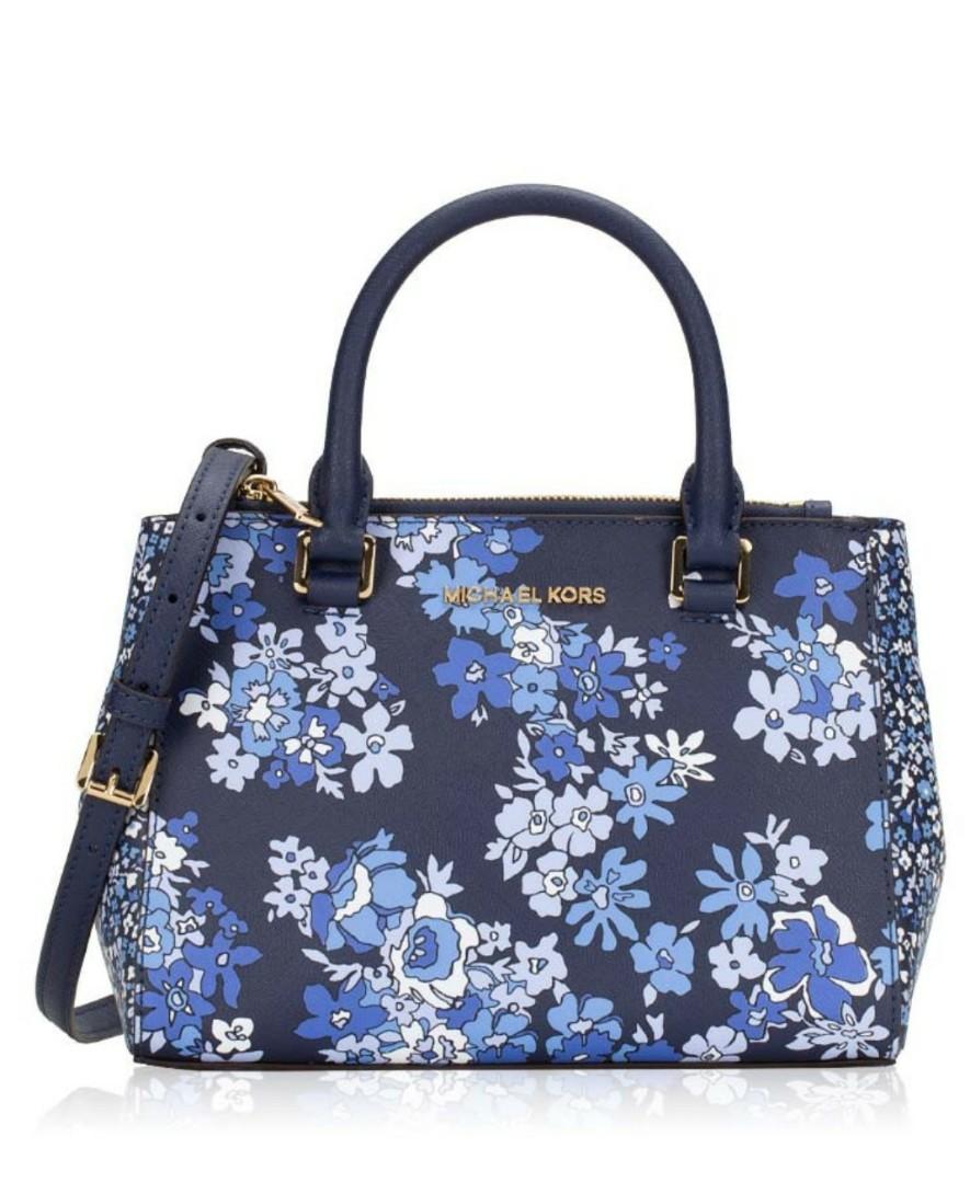 0c17e0d4b0dc ♥ Michael Kors Kellen Floral XS Satchel, Women's Fashion, Bags ...
