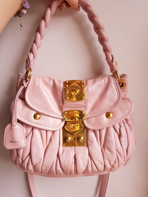 ebfa7556c7d Miu Miu Matelasse Coffer Bag, Luxury, Bags   Wallets, Handbags on ...