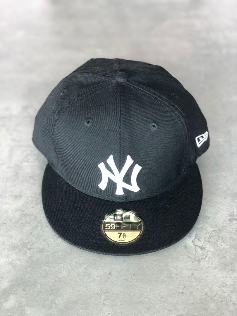 4feee1c6 New Era Black New York Yankees 59Fifty Cap Hat - Size 7 5/8, Women's ...