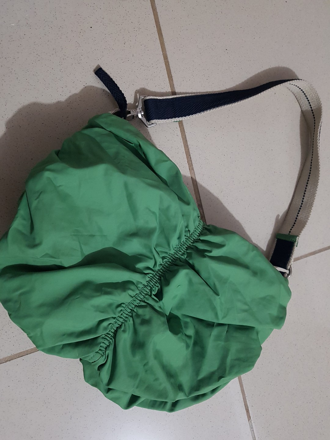 Navy And Green Bag