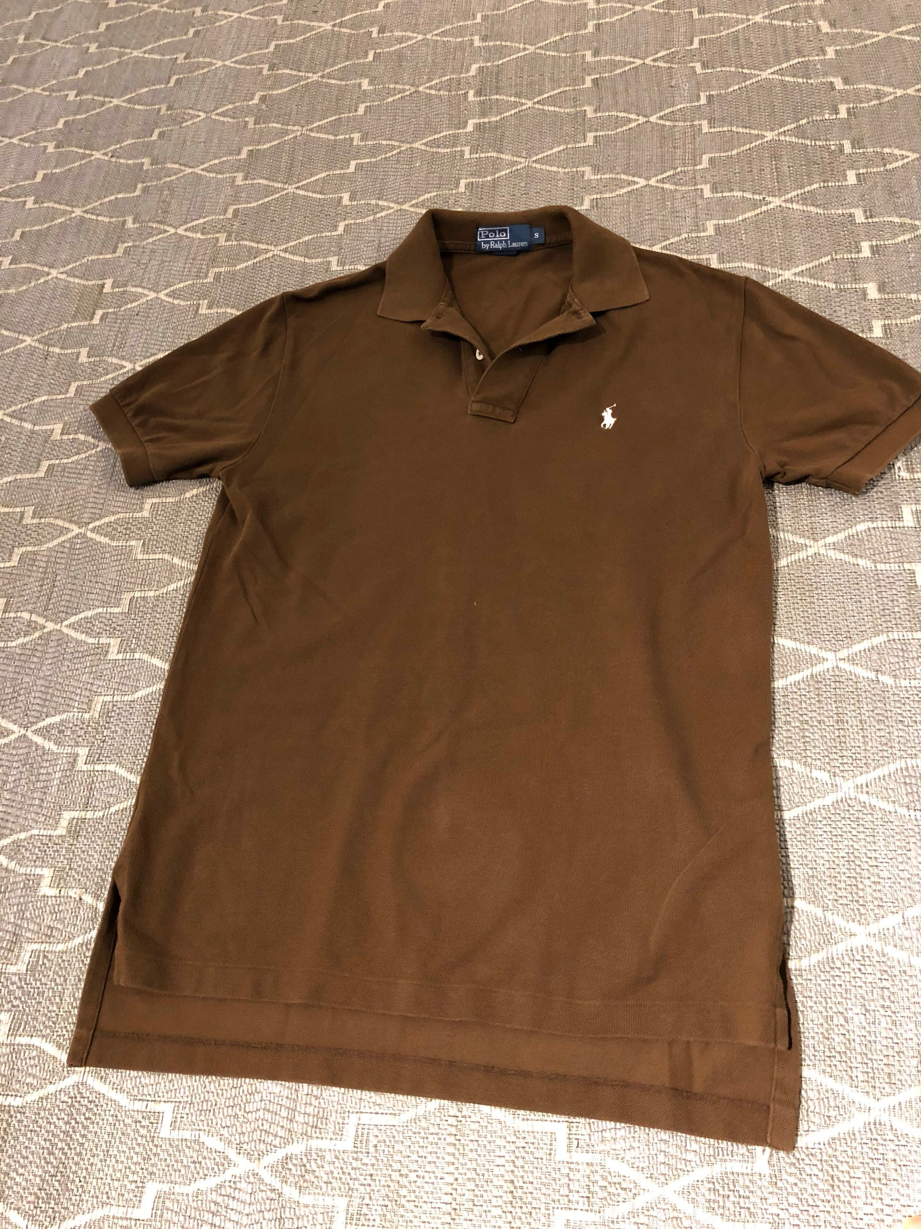 77332b284eac Polo Ralph Lauren Polo Tee (in brown) sz S, Men's Fashion, Clothes, Tops on  Carousell